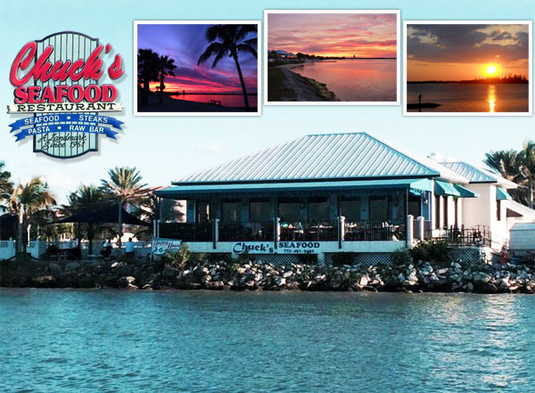 Chuck's Seafood Restaurant, Fort Pierce FL - Waterfront Dining on Hutchinson Island