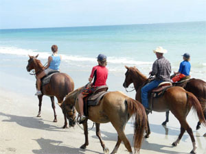 Horseback Riding on the Beach, Hutchinson Island
