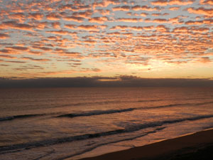 Hutchinson Island Florida Sunrise on the Atlantic Ocean. Beautiful beaches of Hutchinson Island FL