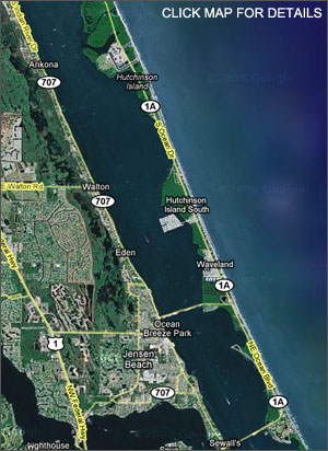 Florida Map Of Beaches.About Hutchinson Island Florida Information Guide And Travel