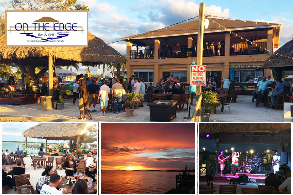 On the Edge, Fort Pierce, FL - Waterfront Restaurant and Bar on Hutchinson Island with Live Music, Bands, Full Bar and Seafood Menu