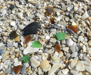 Sea glass Hutchinson Island